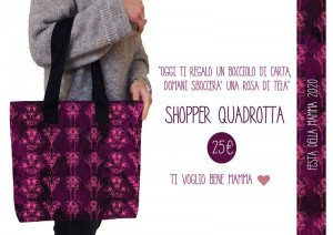 CARTOLINA SHOPPER QUADROTTA